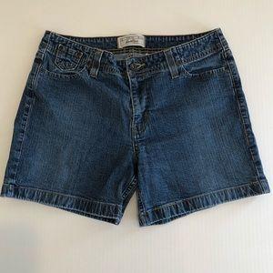 Levi's Misses Stretch Denim Shorts